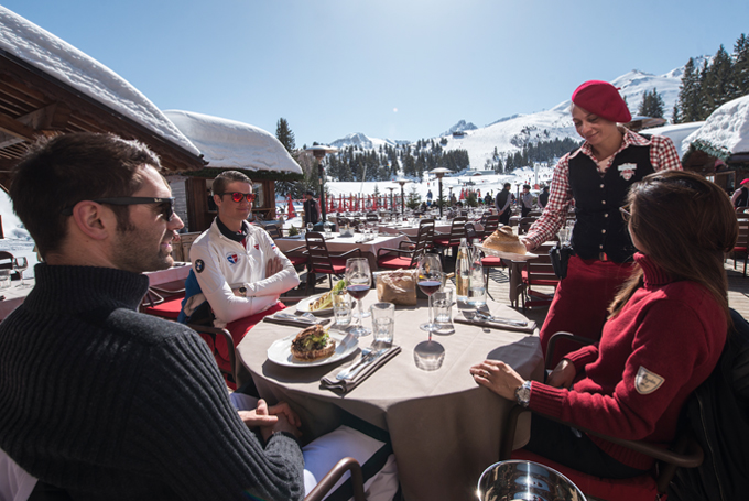 gastronomy in courchevel france ressort